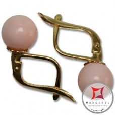 Extra Pink Coral Earrings 7-7¾mm skin tone in Gold 18K m [various diameters]