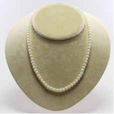 Extra White Coral Necklace 6mm in Gold 18K