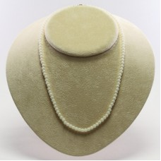 Extra White Coral Necklace 4½mm in Gold 18K