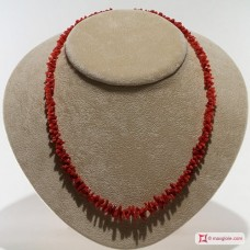 Mediterranean Red Coral Necklace cupolini 11-5mm in Gold 18K