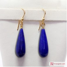 Extra Lapis Earrings 8x24mm in Gold 18K