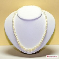 Mother of Pearl Necklace 5-12mm graduated in Silver