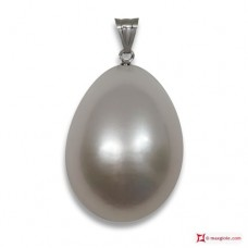 Extra Biwa Pearl Pendant 9-9½mm in Gold 18K