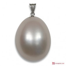 Extra Biwa Pearl Pendant 10-10½mm in Gold 18K