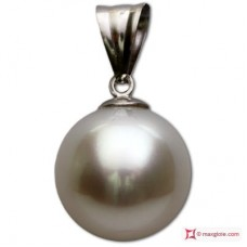 TOP South Sea Pearl Pendant 13mm in White Gold 18K