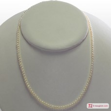 Extra Pearl Necklace 3-3½mm round in Silver