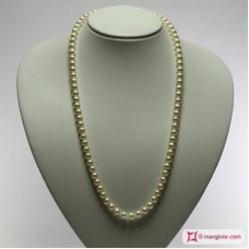 Pearl Necklace white TOP 7-7½mm L60 in Gold 18K