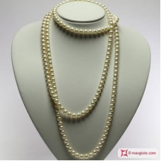 Pearl Necklace white TOP 7-7½mm L150 in Gold 18K