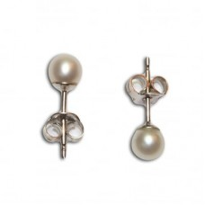 Pearl Earrings 4-4½mm in Gold 18K