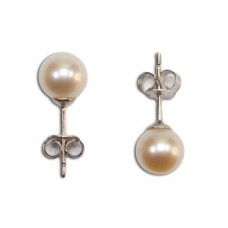 Pearl Earrings 5½-6mm in Gold 18K