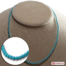 Extra Turquoise Necklace 3mm in Gold 18K