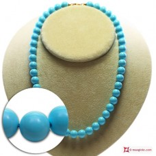Extra Turquoise Necklace 10mm in Gold 18K [various lengths]