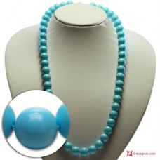Extra Turquoise Necklace 12mm in Gold 18K [various lengths]