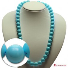 Extra Turquoise Necklace 14mm in Gold 18K [various lengths]