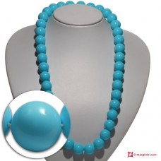 Extra Turquoise Necklace 16mm in Gold 18K [various lengths]