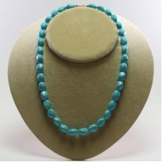 Extra Turquoise Necklace 10x13mm small stones in Gold 18K