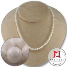 Collana Corallo bianco Extra 5mm in Oro 18K