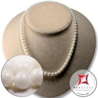 Collana Corallo bianco Extra 7mm in Oro 18K