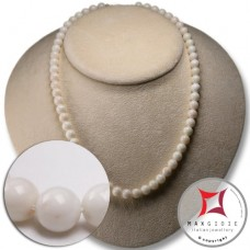 Collana Corallo bianco Extra 7½mm in Oro 18K