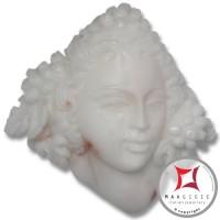 Incisione Artistica Corallo bianco del Pacifico 36x36mm