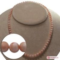 Collana Corallo rosa Extra pallini 6-7mm in Oro 18K
