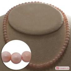 Collana Corallo rosa Extra pallini 6mm in Oro 18K
