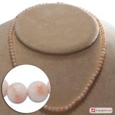 Collana Corallo rosa Extra pallini 4½mm in Oro 18K