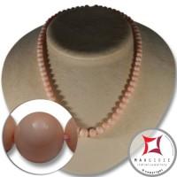 Collana Corallo rosa pelle d'angelo Extra pallini 6-10mm in Oro 18K
