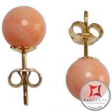 Orecchini Corallo rosa Extra 7-7¾mm in Oro 18K [vari diametri]