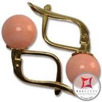 Orecchini Corallo rosa Extra 7-7¾mm in Oro 18K m [vari diametri]