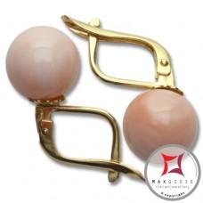 Orecchini Corallo rosa skin tone Extra 9-9¾mm in Oro 18K m [vari diametri]