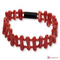 Bracciale Corallo rosso del Giappone Extra pallini e rami