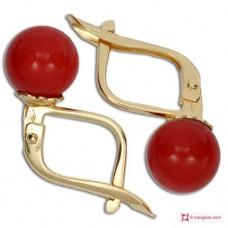 Orecchini Corallo rosso Extra 7-7¾mm in Oro 18K m [vari diametri]