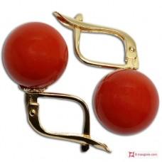Orecchini Corallo rosso Extra 10-10¾mm in Oro 18K m [vari diametri]