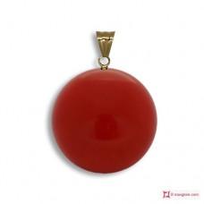 Pendente Corallo rosso Extra 8-8¾mm in Oro 18K [vari diametri]