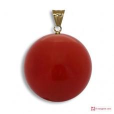 Pendente Corallo rosso Extra 9-9¾mm in Oro 18K [vari diametri]