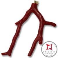 Pendente Corallo rosso Extra ramo piccolo in Oro 18K id2058