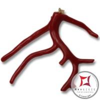 Pendente Corallo rosso Extra ramo medio in Oro 18K id2063
