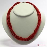 Thorchon 10 fili Coralloide Bambu rosso in Argento