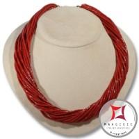Thorchon 20 fili Coralloide Bambu rosso in Argento