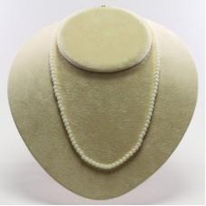 Collana Corallo bianco Extra 4½mm in Oro 18K