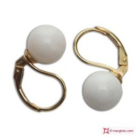 Orecchini Corallo bianco Extra 8-8½mm in Oro 18K mmp