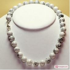 Collana Ovalite pallini 12mm in Argento