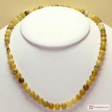 Collana Opale giallo pallini 8mm in Argento