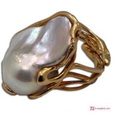 Anello Perle in Argento 925 placcato Oro [scelte multiple]
