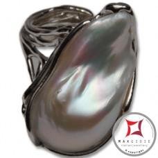 Anello etrusco Perle in Argento 925 id0022