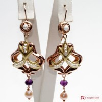 Orecchini Vintage [Perle, Ametista] in Argento 925 id17