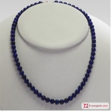 Extra Lapis Necklace 6mm in Gold 18K
