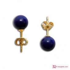 Extra Lapis Earrings 6mm in Gold 18K