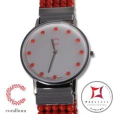 Orologio Corallium 40mm movimento svizzero con corallo id09m